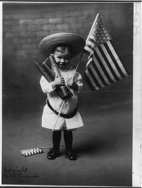 July 4th - F. A. Loumis, ca. 1906. Library of Congress - No known restrictions on publication