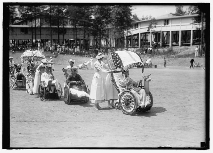 Fourth of July Scenes in celebration at Walter Reed; Harris & Ewing photographer; 1919. Library of Congress - No known restrictions on Publication
