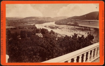 View on roof of Water Gap House by Albert Graves - stereocard -no known copyright restrictions - Boston Public Library collections