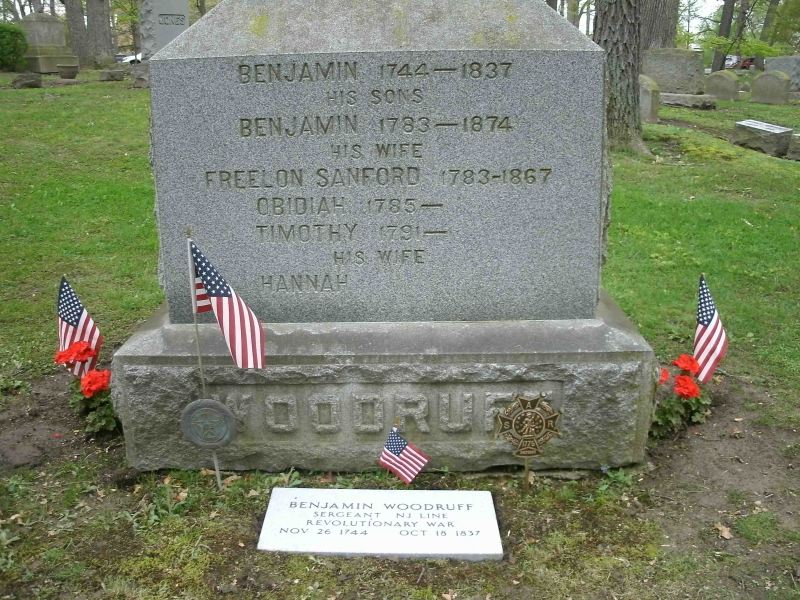 Grave marker - Note the misspelling of Freelove Sanford's first name - IMAGE COPYRIGHT: SUE WOODRUFF NOLAND