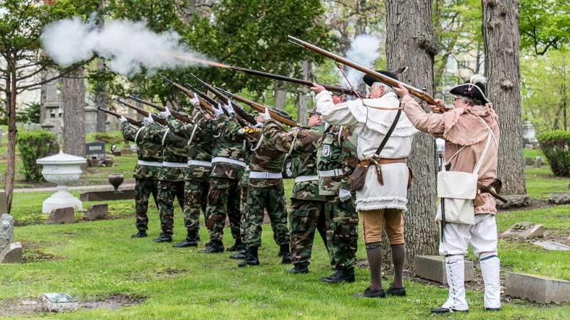 Twenty-one gun salute - IMAGE COPYRIGHT: CHUCK MARSHALL - USED WITH PERMISSION