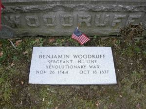 Benjamin Woodruff Grave Marker - PHOTO COPYRIGHT: SUE WOODRUFF NOLAND