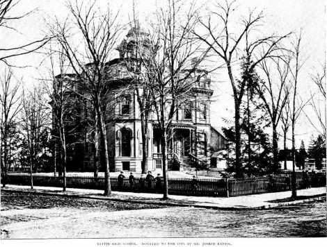 Battin High School, Elizabeth, NJ - image featured in the book City of Elizabeth, New Jersey, Illustrated, 1889