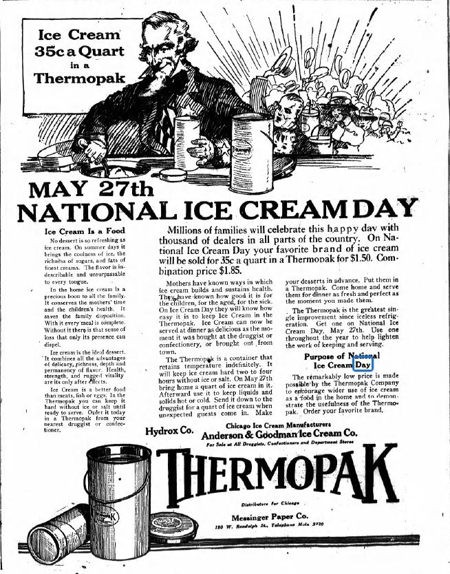 Chips off the old block a blog devoted to genealogical chicago sunday tribune may 23 1920 though the third sunday in july was declared national ice cream day by president ronald reagan here is evidence of an fandeluxe Image collections