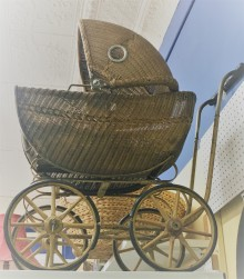 Who was pushed in this pram?