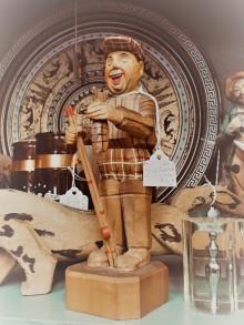 Fun carved figure